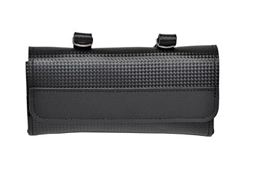 KTBike Carbon Black - Bike Rear Saddle Bag. Bicycle pannier. Cycling storage. Carboon Look. by KTBike