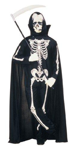 [Skeleton Halloween Costume - Adult Large] (Hispanic Halloween Costumes)