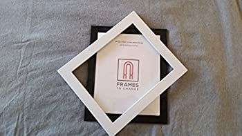 WHITE Frames To Change 8x10 Magnetic Picture Frame - New Patented Front Loading- Fool Proof Design! Change Pictures In Seconds!!