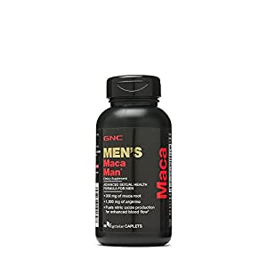 GNC Maca Man, Maca Root Arginine for Enhanced Blood Flow 60 Vegetarian Capsules