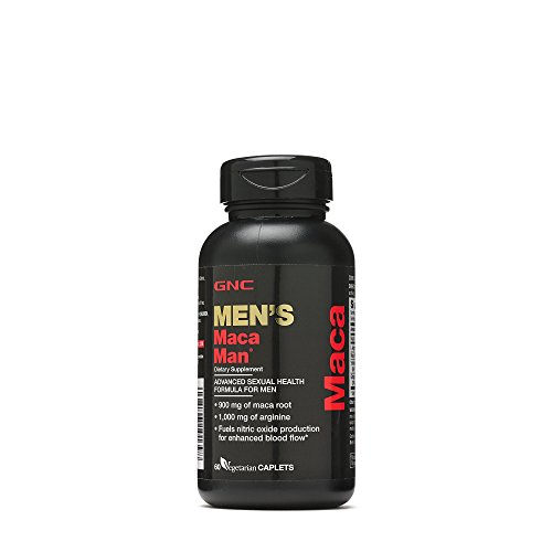 GNC Maca Man 60 Vegetarian Capsules 900mg of mac root ,1,000mg of arginine