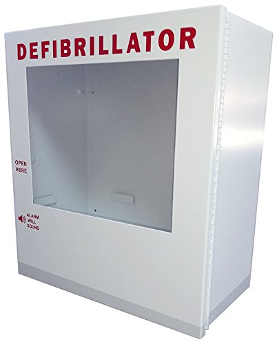 NON Alarmed AED Defibrillator Wall Mounted Storage Cabinet Fits Cardiac Science, Zoll, Defibtech, Physio-Control