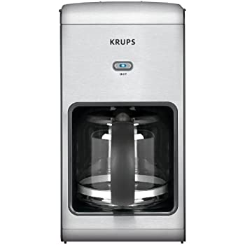 KRUPS KM1010 Prelude Coffee Maker with Stainless Steel Housing, 10-Cup, Silver