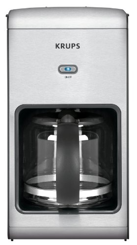 Krups Coffee Maker Manual - KRUPS KM1010 Prelude Coffee Maker with Stainless Steel Housing, 10-Cup, Silver