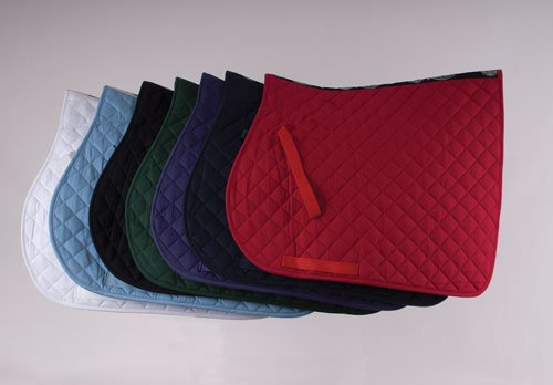 (Black, Pony) - Rhinegold Cotton Quilted Horses Saddle Cloth   B00DCDSLVM