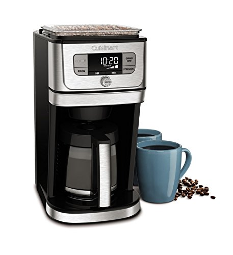 Cuisinart DGB-800 Burr Grind & Brew Automatic Coffeemaker, 12 Cup, Silver