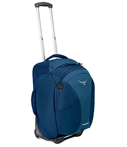 Osprey Packs Meridian 60L/22 Wheeled Luggage, Lagoon Blue