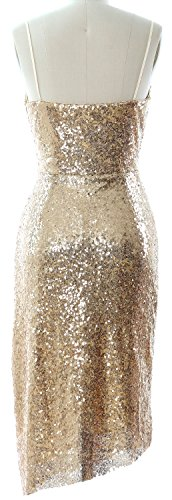 Macloth Sequin Midi Gown Black Party Dress V Bridesmaid Formal Women Neck Wedding 5rOwA5