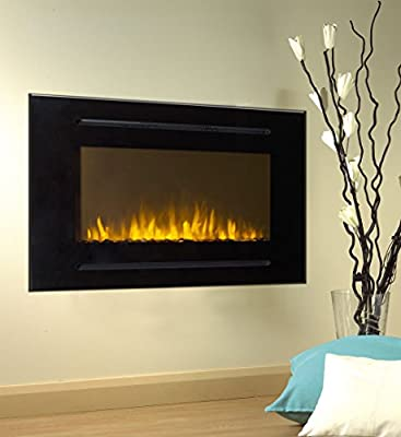 Touchstone 80006 Forte In-Wall Recessed Electric Fireplace, 40 Inch Wide, 1500/750 Watt Heater, Stone Hearth (Black)