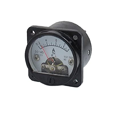 uxcell Class 2.5 Accuracy AC 0-10A Round Analog Panel Meter Ammeter Black: Industrial & Scientific