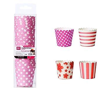 Moldes de cartón para magdalenas y cupcakes - 25 unidades: Amazon.es: Hogar