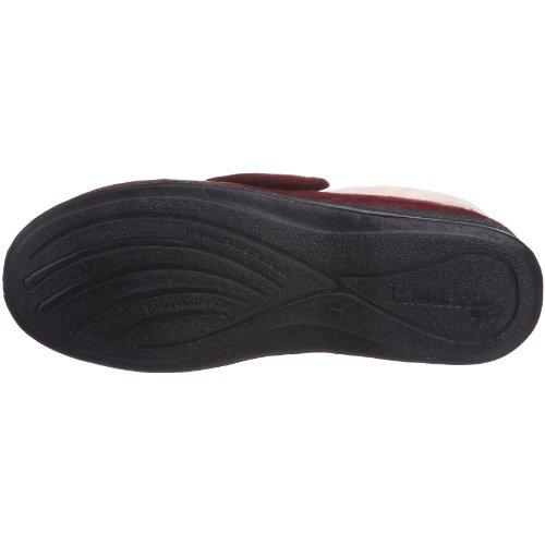 Padders Silent, Zapatos De Estar Por Casa Para Mujer Rojo (Burgundy)