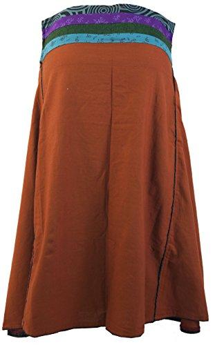 Guru-Shop - Falda - para mujer naranja