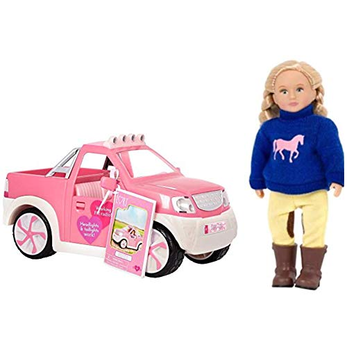 TheBeliever Holiday Bundle ! Our Generation Lori Ride & Shine Pick up Truck and 6'' Mini {Assorted} Doll