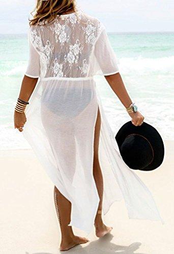 6e341de101528 Bestyou Women's Long Maxi Dress Bikini Swimsuit Bathing Suit Cover up  Swimwear Kimono Jacket Cardigan Robe