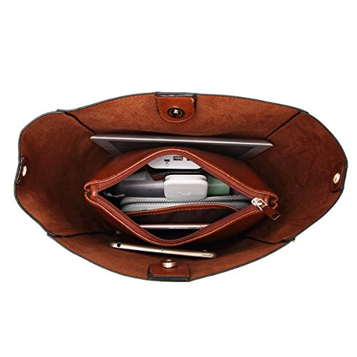 Molodo Womens Satchel Hobo Stylish Top Handle Tote PU Leather Handbag Shoulder Purse by Molodo (Image #4)
