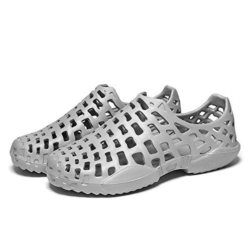 Fuera Hacia Sandalias Ahueca Hombre Playa Cuña Chanclas Unisex Mujer JYC Flops Zapatos Flip Pareja Hombre Mujer Gris de Zapatos Slippers Ocasional Verano q8PwY0