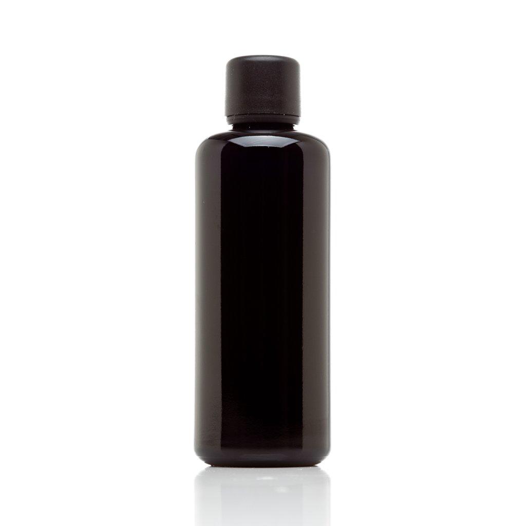 Infinity Jars 100 Ml (3.4 fl oz) 10-PACK Set Black Ultraviolet Glass Essential Oil Bottle w/ Euro Dropper Cap