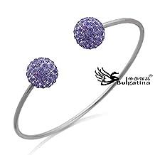 Designer bracelet cuff bangle women item deep purple color crystal bangles 2013 CH5711