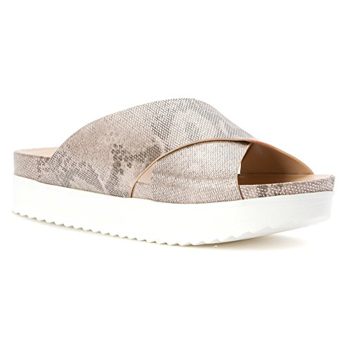 Sandal Chiffon Platform Wanted Women's Shoes Silver zBqFvZn