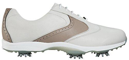 FootJoy Women's Embody Saddle Golf Shoes 96103 - White/Taupe - 9.5 - Medium ()