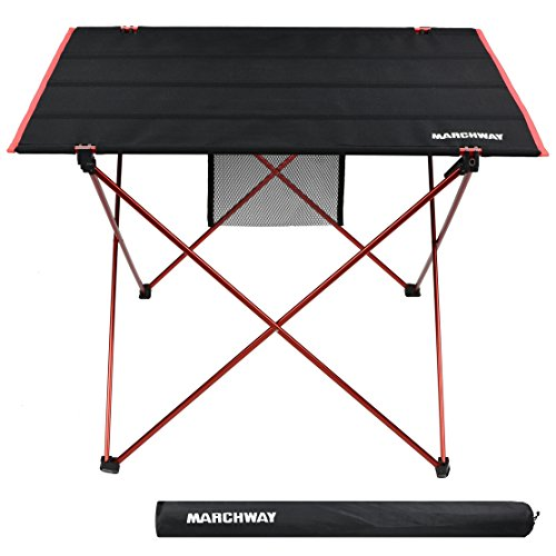 Portable Tailgate Table (Lightweight Folding Roll Up Camping Picnic Table, Ultralight Portable Compact for Outdoor Travel, Camp, BBQ, Beach, Tailgate Party, Hiking (Red, Large))