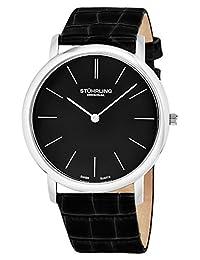 Stuhrling Original Men's Classic Ascot Slim Swiss Watch Black 601.33151