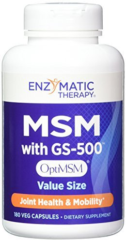 Enzymatic Therapy MSM with Gs-500 Vegetarian Capsules, 180 Count by Enzymatic