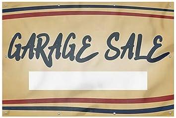 CGSignLab Nostalgia Stripes Wind-Resistant Outdoor Mesh Vinyl Banner Garage Sale 12x8