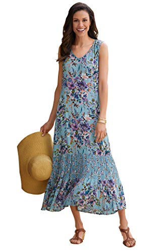 Chadwicks Crinkle Rayon Floral Dress