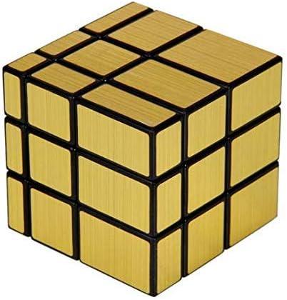 Fiddlys High Stability Stickerless Speed Cube (Golden Mirror)