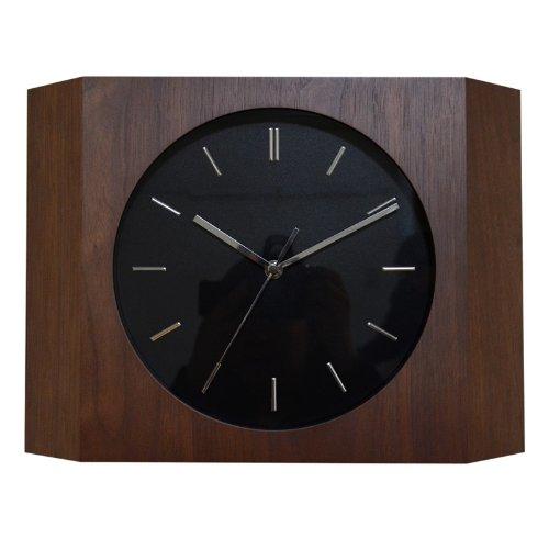 壁掛け時計 STEP ステップ CCL-5405-WN(ウォールナットカラー) 時計 クロック スイープムーブ ナチュラル 北欧 シンプル モダン B00JQ1JX02
