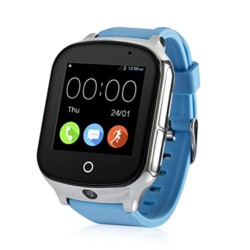3G WIFI Phone Call GPS Smart Watch, Tycho Real-time Tracking SOS GPS Tracker Watch, Geo-fence Elderly GPS Watch Touch Screen Camera Step Counter Kids Gps Watch SOS Alarm Anti-lost GPS Watch (Verizon Phone Watch Cell)