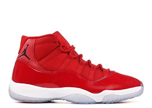 Jordan Men's Air 11 Retro, Gym Red/Black-White, 11.5 UK