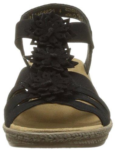 Sandales Femmes Rieker Noir 910799-1 Noir / Noir