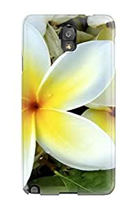 CPlnpgR2498LWurg Case Cover, Fashionable Galaxy Note 3 Case - White Yellow Flowers