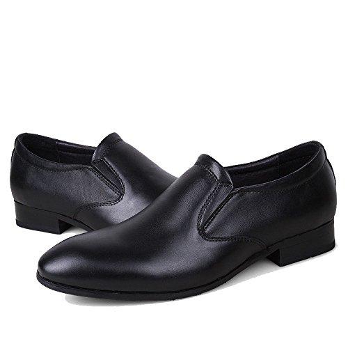 LYZGF Hommes Affaires Non-Glissement Mode Décontractée Jeunes Chaussures De Mariage en Cuir Black TKaTXnSRqc