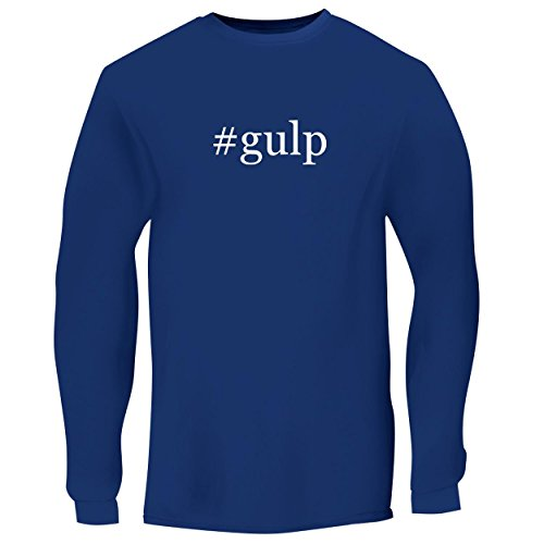 (BH Cool Designs #Gulp - Men's Long Sleeve Graphic Tee, Blue, X-Large)
