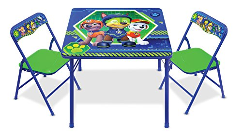 Nickelodeon Patrol Code Paw Activity Table Play Set with Two Chairs, Blue-Green by Nickelodeon