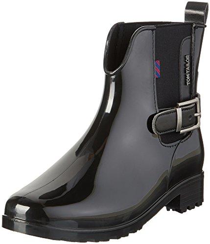 TOM TAILOR Damen 1692302 Chelsea Boots Schwarz (Black)