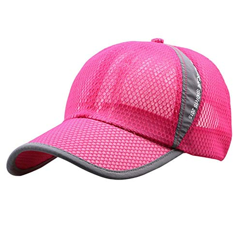 (TOTOD Hats for Women Baseball Caps Outdoor Holiday Sunshade Sun Hat Quick-Dry Ventilation Hot Pink)