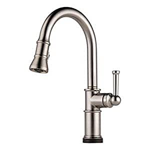 Brizo 64025lf Ss Artesso Single Handle Pull Down