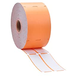 Orange Direct Thermal Consignment Style Tags