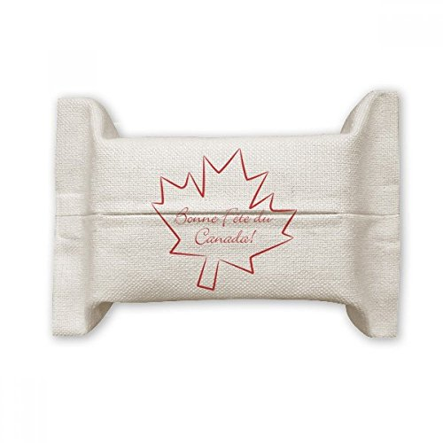 Happy Canada Day 4th Of July Maple Leaf Cotton Linen Tissue Paper Cover Holder Storage Container Gift