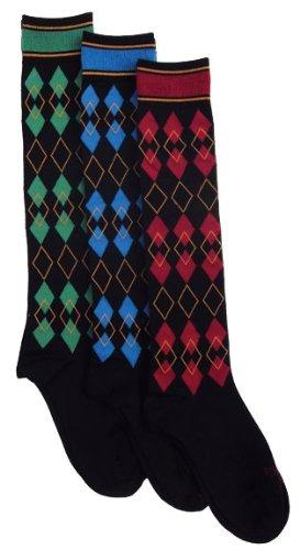 (EPONA Argyle Boot Socks, Green, One Size)