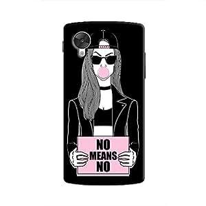 Cover It Up - No Means No Nexus 5 Hard Case