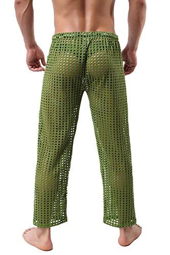 Liviano Largo Ocio Pantalones Unicolor Playa Y Pijama Hombres Verano Battercake Acogedor Grün Los Cómodo Huecos De P1qnRCTU