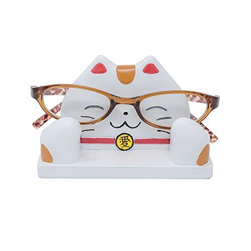 JewelryNanny Maneki Neko Eyeglass Display Stand Japanese Money Lucky Cat