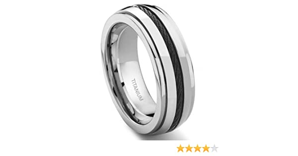 Titanium Band with Black Cable Size 10.5