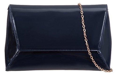 Patent HandBags Girly Bag Black Clutch Plain vz050qwHS